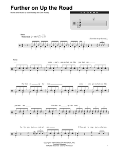Further On Up The Road - Eric Clapton - Full Drum Transcription / Drum Sheet Music - SheetMusicDirect DT
