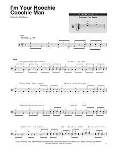 I'm Your Hoochie Coochie Man - Muddy Waters - Full Drum Transcription / Drum Sheet Music - SheetMusicDirect DT
