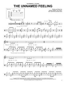 The Unnamed Feeling - Metallica - Full Drum Transcription / Drum Sheet Music - SheetMusicDirect DT
