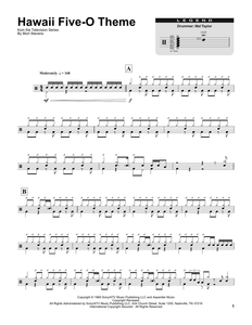 Hawaii Five-O Theme - The Ventures - Full Drum Transcription / Drum Sheet Music - SheetMusicDirect DT