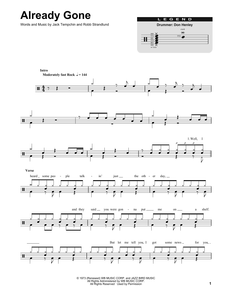 Already Gone - Eagles - Full Drum Transcription / Drum Sheet Music - SheetMusicDirect DT