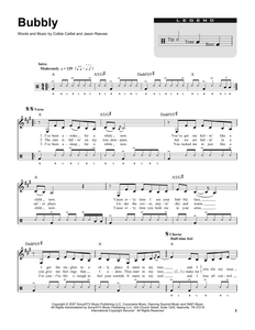 Bubbly - Colbie Caillat - Full Drum Transcription / Drum Sheet Music - SheetMusicDirect DT