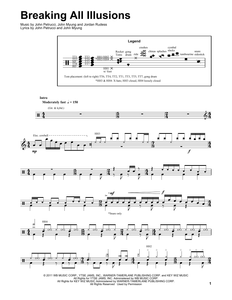 Breaking All Illusions - Dream Theater - Full Drum Transcription / Drum Sheet Music - SheetMusicDirect DT