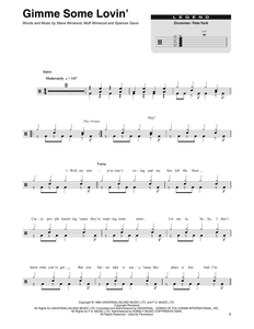 Gimme Some Lovin' - The Spencer Davis Group - Full Drum Transcription / Drum Sheet Music - SheetMusicDirect DT173955