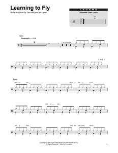 Learning To Fly - Tom Petty - Full Drum Transcription / Drum Sheet Music - SheetMusicDirect DT