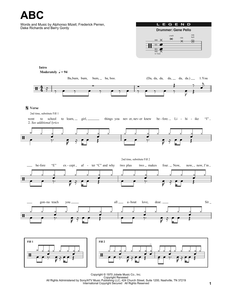 ABC - The Jackson 5 - Full Drum Transcription / Drum Sheet Music - SheetMusicDirect DT