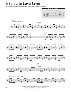 Interstate Love Song - Stone Temple Pilots - Full Drum Transcription / Drum Sheet Music - SheetMusicDirect DT