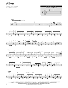 Alive - Pearl Jam - Full Drum Transcription / Drum Sheet Music - SheetMusicDirect DT176336