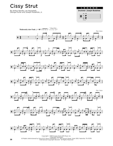 Cissy Strut - The Meters - Full Drum Transcription / Drum Sheet Music - SheetMusicDirect DT176332