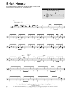Brick House - Commodores - Full Drum Transcription / Drum Sheet Music - SheetMusicDirect DT176343