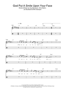 God Put A Smile Upon Your Face - Coldplay - Full Drum Transcription / Drum Sheet Music - SheetMusicDirect D
