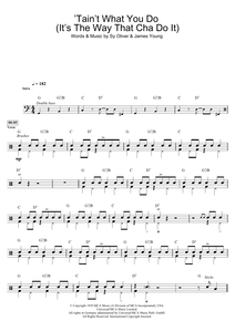 'Tain't What You Do (It's The Way That Cha Do It) - Sy Oliver - Full Drum Transcription / Drum Sheet Music - SheetMusicDirect D