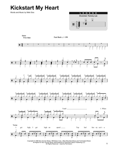 Kickstart My Heart - Motley Crue - Full Drum Transcription / Drum Sheet Music - SheetMusicDirect DT