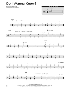 Do I Wanna Know? - Arctic Monkeys - Full Drum Transcription / Drum Sheet Music - SheetMusicDirect D
