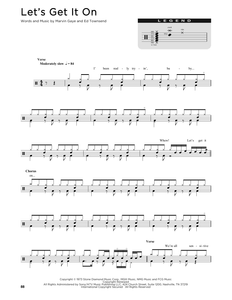 Let's Get It On - Marvin Gaye - Full Drum Transcription / Drum Sheet Music - SheetMusicDirect D
