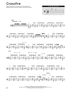 Crossfire - Stevie Ray Vaughan - Full Drum Transcription / Drum Sheet Music - SheetMusicDirect D