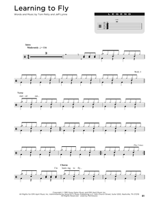 Learning To Fly - Tom Petty - Full Drum Transcription / Drum Sheet Music - SheetMusicDirect D