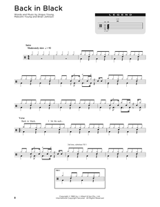 Back In Black - AC/DC - Full Drum Transcription / Drum Sheet Music - SheetMusicDirect D251328