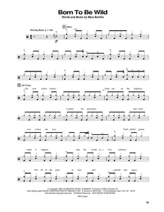 Born To Be Wild - Steppenwolf - Full Drum Transcription / Drum Sheet Music - SheetMusicDirect DT