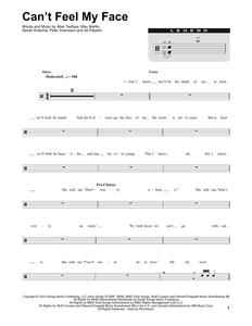 Can't Feel My Face - The Weeknd - Full Drum Transcription / Drum Sheet Music - SheetMusicDirect DT