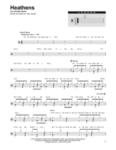 Heathens - twenty one pilots - Full Drum Transcription / Drum Sheet Music - SheetMusicDirect DT