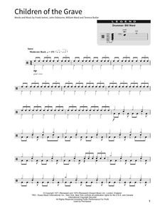 Children Of The Grave - Black Sabbath - Full Drum Transcription / Drum Sheet Music - SheetMusicDirect SORD