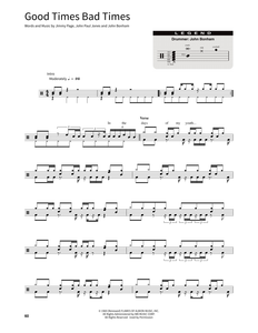Good Times Bad Times - Led Zeppelin - Full Drum Transcription / Drum Sheet Music - SheetMusicDirect SORD