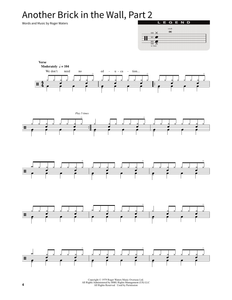 Another Brick In The Wall, Part 2 - Pink Floyd - Full Drum Transcription / Drum Sheet Music - SheetMusicDirect SORD