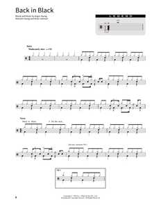 Back In Black - AC/DC - Full Drum Transcription / Drum Sheet Music - SheetMusicDirect SORD