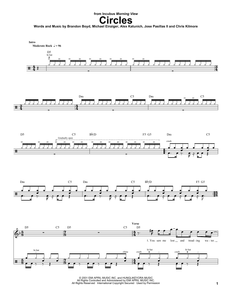 Circles - Incubus - Full Drum Transcription / Drum Sheet Music - SheetMusicDirect DT
