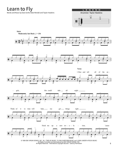 Learn To Fly - Foo Fighters - Full Drum Transcription / Drum Sheet Music - SheetMusicDirect SORD