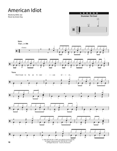 American Idiot - Green Day - Full Drum Transcription / Drum Sheet Music - SheetMusicDirect SORD