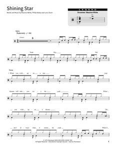 Shining Star - Earth, Wind & Fire - Full Drum Transcription / Drum Sheet Music - SheetMusicDirect SORD