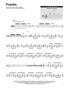 Frantic - Metallica - Full Drum Transcription / Drum Sheet Music - SheetMusicDirect DT253890