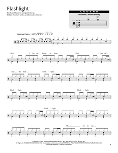 Flashlight - Parliament - Full Drum Transcription / Drum Sheet Music - SheetMusicDirect SORD
