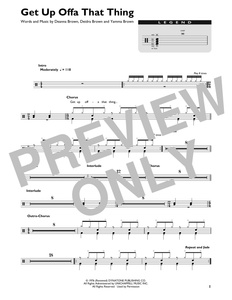Get Up Offa That Thing - James Brown - Full Drum Transcription / Drum Sheet Music - SheetMusicDirect DT427086
