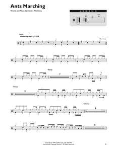 Ants Marching - Dave Matthews Band - Full Drum Transcription / Drum Sheet Music - SheetMusicDirect DT