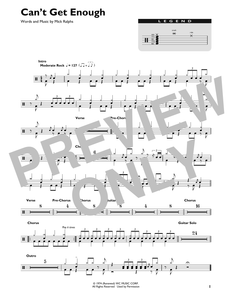 Can't Get Enough - Bad Company - Full Drum Transcription / Drum Sheet Music - SheetMusicDirect DT