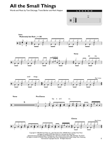All The Small Things - blink-182 - Full Drum Transcription / Drum Sheet Music - SheetMusicDirect DT427092