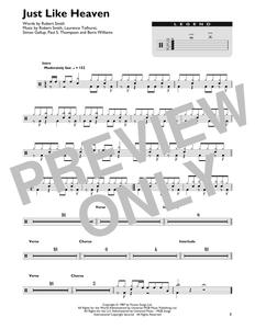 Just Like Heaven - The Cure - Full Drum Transcription / Drum Sheet Music - SheetMusicDirect DT