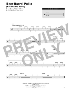 Beer Barrel Polka (Roll Out The Barrel) - Bobby Vinton - Full Drum Transcription / Drum Sheet Music - SheetMusicDirect DT