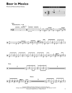Beer In Mexico - Kenny Chesney - Full Drum Transcription / Drum Sheet Music - SheetMusicDirect DT