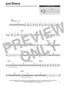 Just Dance (feat. Colby O' Donis) - Lady Gaga - Full Drum Transcription / Drum Sheet Music - SheetMusicDirect DT