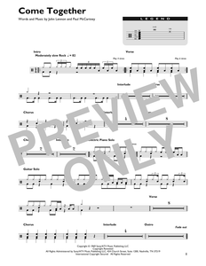 Come Together - The Beatles - Full Drum Transcription / Drum Sheet Music - SheetMusicDirect DT426858