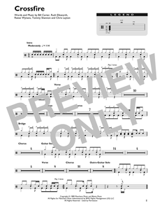 Crossfire - Stevie Ray Vaughan - Full Drum Transcription / Drum Sheet Music - SheetMusicDirect DT428442