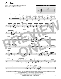 Cruise - Florida Georgia Line - Full Drum Transcription / Drum Sheet Music - SheetMusicDirect DT426850