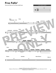 Free Fallin' - Tom Petty - Full Drum Transcription / Drum Sheet Music - SheetMusicDirect DT426840