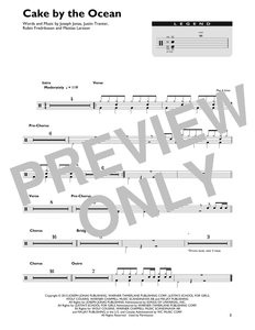 Cake By The Ocean - DNCE - Full Drum Transcription / Drum Sheet Music - SheetMusicDirect DT
