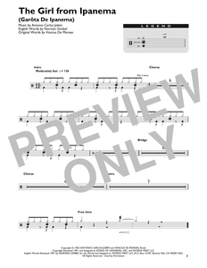 The Girl From Ipanema (Garota De Ipanema) - Antonio Carlos Jobim - Full Drum Transcription / Drum Sheet Music - SheetMusicDirect DT