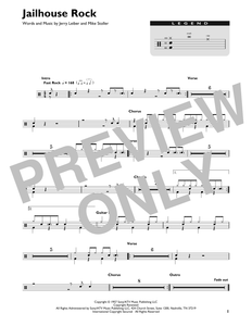Jailhouse Rock - Elvis Presley - Full Drum Transcription / Drum Sheet Music - SheetMusicDirect DT
